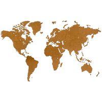 MiMi Innovations Mapa decorativo pared Luxury madera marrón 180x108 cm