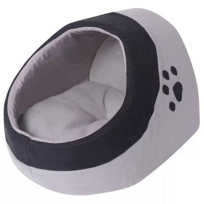 vidaXL Cama cubo para gatos tamaño XL gris y negra