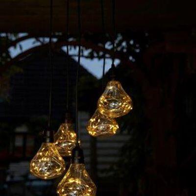 Luxform Bombillas LED de jardín a pilas Bubbles