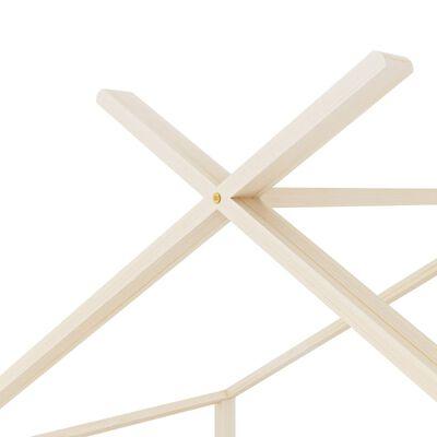 vidaXL Estructura de cama infantil de madera maciza de pino 70x140 cm