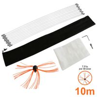 Deshollinador Cepillo Nylon Cepillo 10m Kit Flexibles 7 Varillas