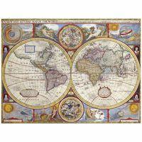 Impresión sobre lienzo - Mapa Antiguo No. 43
