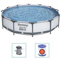 Bestway Piscina de acero Pro MAX 366x76 cm