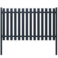 vidaXL Panel de valla acero recubrimiento polvo antracita 174,5x75 cm