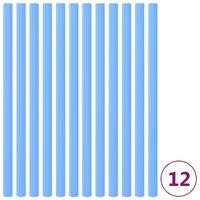vidaXL Mangas de espuma de poste de cama elástica 12 uds 92,5 cm azul