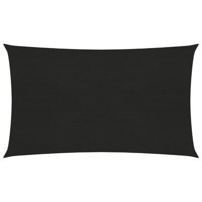vidaXL Toldo de vela HDPE negro 160 g/m² 2,5x5 m
