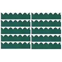 vidaXL Bordes de jardín 10 unidades PP verde 65x15 cm