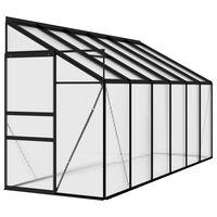 vidaXL Invernadero de aluminio gris antracita 7,44 m³