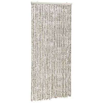vidaXL Cortina mosquitera de chenilla gris claro y oscuro 100x220 cm