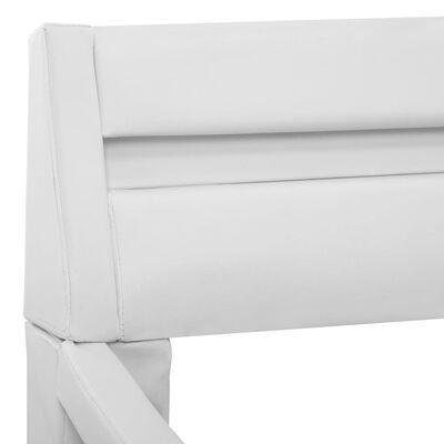 vidaXL Estructura de cama con LED cuero sintético blanco 120x200 cm