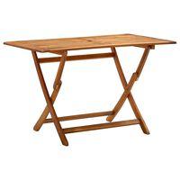 vidaXL Mesa plegable de jardín madera maciza de acacia 120x70x75 cm