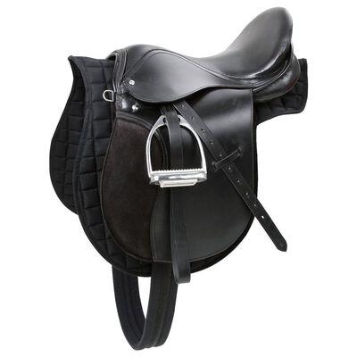 Kerbl Silla de montar Haflinger de cuero negra 322285