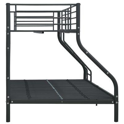 vidaXL Estructura de litera de metal negro 140x200 cm/90x200 cm