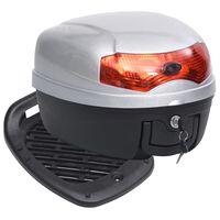 vidaXL Maleta para motos con capacidad para un casco 28 L
