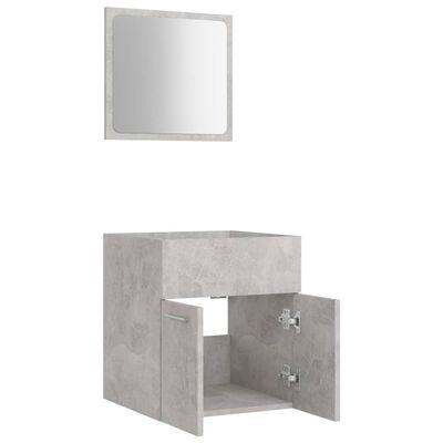 vidaXL Conjunto de muebles de baño 2 piezas aglomerado gris hormigón