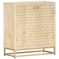 vidaXL Aparador de madera maciza de mango dorado 60x30x70 cm