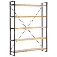 vidaXL Estantería de 5 niveles madera maciza de mango 140x30x180 cm
