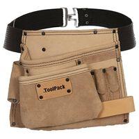 Toolpack Cinturón portaherramientas de 1 bolsa Elite beige