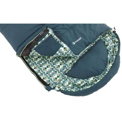 Outwell Saco de dormir Camper cremallera izquierda azul