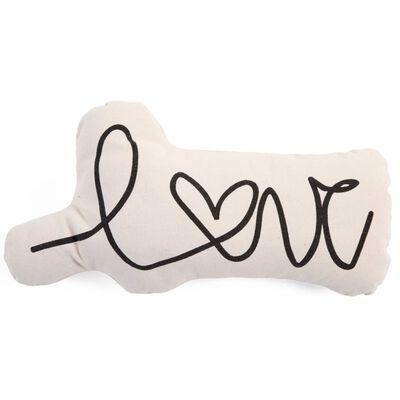 CHILDHOME Cojín de lona carta de amor