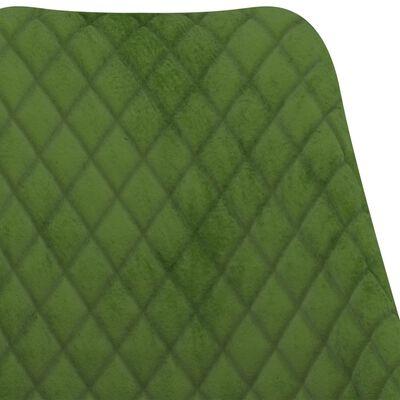 vidaXL Sillas de comedor 2 unidades de terciopelo verde claro