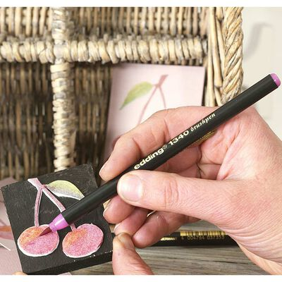 edding Rotulador punta de pincel caligrafía 10 piezas multicolor 1340