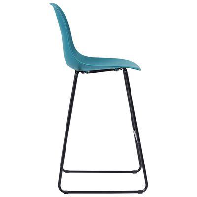 vidaXL Juego de mesa alta y taburetes 3 piezas plástico turquesa