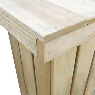 vidaXL Set de comedor de jardín 5 pzas madera de pino impregnada