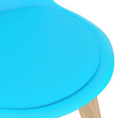 vidaXL Juego de comedor 5 piezas azul