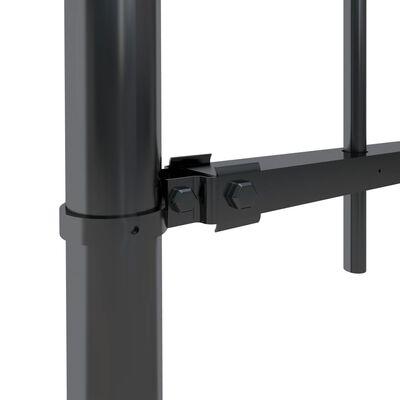 vidaXL Valla de jardín con puntas de lanza acero negro 10,2x0,8 m