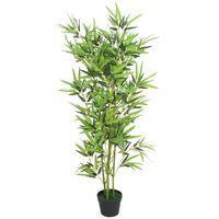 vidaXL Árbol de bambú artificial con maceta 120 cm verde