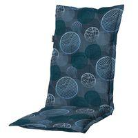 Madison Cojín para silla con respaldo alto Circle azul 123x50 cm