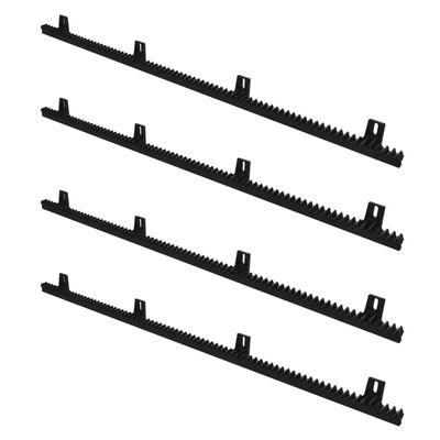 vidaXL Rail de nylon de 4 piezas para abrepuertas deslizante