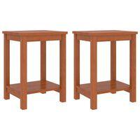 vidaXL Mesitas de noche 2 uds madera de pino marrón miel 35x30x47 cm