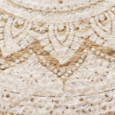 vidaXL Alfombra redonda 120 cm yute trenzado estampado