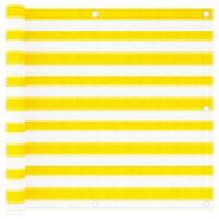 vidaXL Toldo para balcón HDPE amarillo y blanco 90x300 cm
