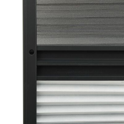 vidaXL Mosquitera plisada para ventanas aluminio con sombra 100x160 cm