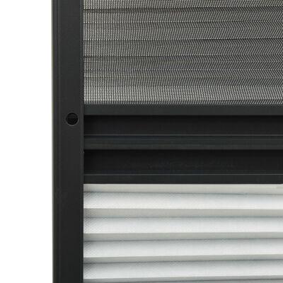 vidaXL Mosquitera plisada para ventanas aluminio con sombra 80x160 cm