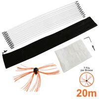 Deshollinador Cepillo Nylon Cepillo 20m Kit Flexibles 7 Varillas