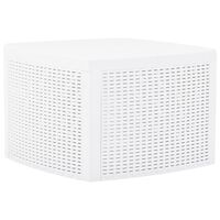 vidaXL Mesa auxiliar de plástico blanco 54x54x36,5 cm