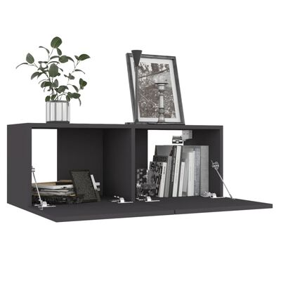 vidaXL Mueble para TV de aglomerado gris 80x30x30 cm