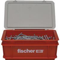 Fischer Set de tornillos clavos con tapones N8x80 200 pzas