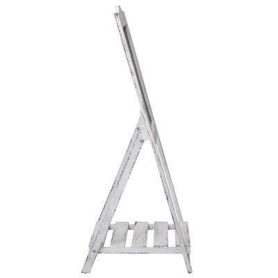 vidaXL Expositor con pizarra de madera blanco 42x44x112 cm