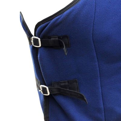Manta de Lana con Cinchas 125 cm (Azul)