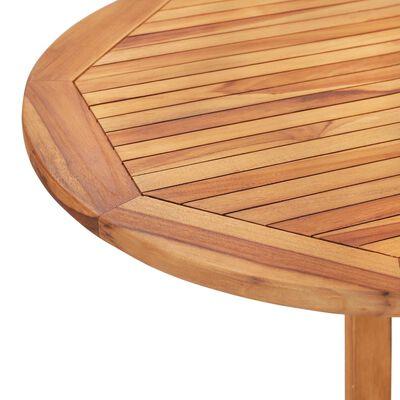 vidaXL Set comedor de jardín plegable 5 piezas madera maciza de teca