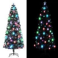 vidaXL Árbol de Navidad artificial con soporte/LED 240 cm 380 ramas