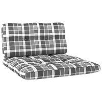 vidaXL Cojines para sofá de palets 2 piezas estampado a cuadros grises