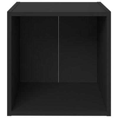 vidaXL Juego de mueble para TV de 8 piezas aglomerado negro