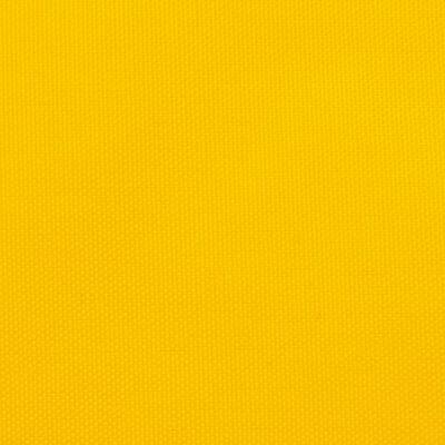 vidaXL Toldo de vela triangular de tela oxford amarillo 3,5x3,5x4,9 m