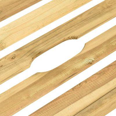 vidaXL Tumbona doble de madera de pino impregnada verde
